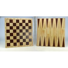 <strong>Sunnywood</strong> Wooden Double Sided Chess Board