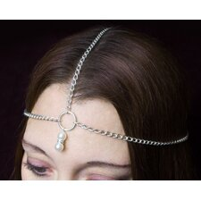 Pearl Drop Metal Chain Headpiece