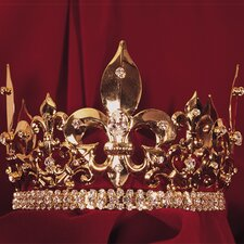 Large Fleur-de-lis Mens Crown