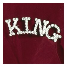 """King"" Rhinestone Pin"