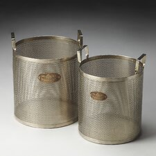 <strong>Butler</strong> Hors D'oeuvres Cannes Iron Storage Baskets (Set of 2)