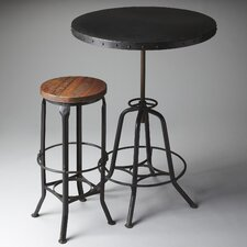 Metalworks Adjustable Height Pub Table Set