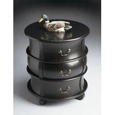 eBlack Licorice Barrel Table