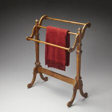 Plantation Blanket Stand in Distressed Vintage Oak