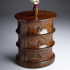 <strong>Butler</strong> Classic Burl Oval Drum End Table
