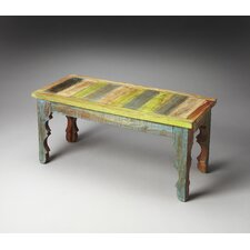 Artifacts Rao Painted Wood Bench