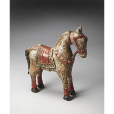 Hors D'oeuvres Regent Carved Wood Horse Statue