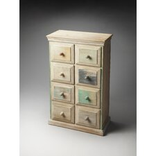 Artifacts Keller Painted Wood  8 Drawer Chest