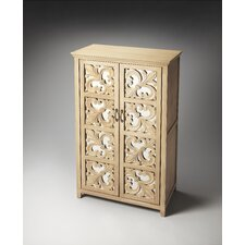 Artifacts Fleur De Lis Mirrored Door Chest