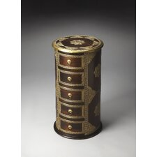 <strong>Butler</strong> Artifacts Rajan Brass Inlay Pedestal Chest