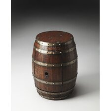 Mountain Lodge Barrel End Table