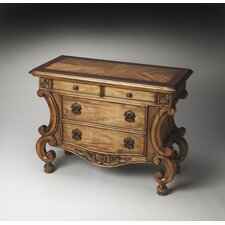 Connoisseur's Sonnet Inlaid Console Chest