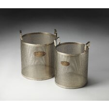 Hors D'oeuvres Cannes Iron Storage Baskets (Set of 2)
