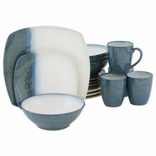 Metallics 16 Piece Dinnerware Set