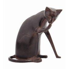 Coy Cat Statue