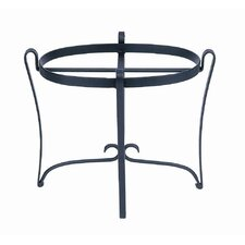 Oval Wrought Iron Stand
