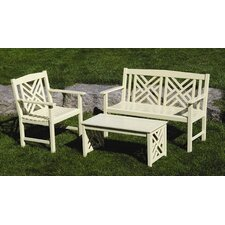 <strong>ACHLA</strong> Fretwork 2 Piece Bench Seating Group