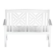 Fretwork Entryway Wood Garden Bench