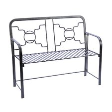 Bows and Circles Wrought Iron Garden Bench