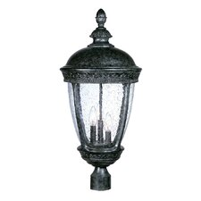 "Fleur de Lis 3 Light 13"" Outdoor Post Lantern"
