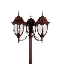 "<strong>Acclaim Lighting</strong> Suffolk 3 Light 82.5"" Surface Mount Post"
