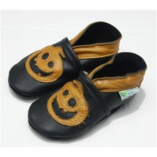 <strong>Augusta Baby</strong> Jack-o-lantern Soft Sole Leather Baby Shoes