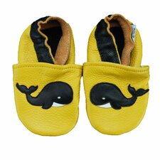 <strong>Augusta Baby</strong> Whale Soft Sole Leather Baby Shoes