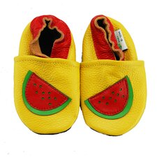 <strong>Augusta Baby</strong> Watermelon Soft Sole Leather Baby Shoes