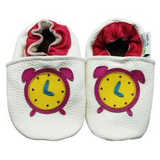 Alarm Clock Soft Sole Leather Baby Shoes