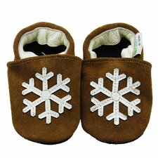 Snowflake Suede Soft Sole Leather Baby Shoes