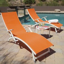 Sol Sling Folding Chaise Lounge (Set of 2)
