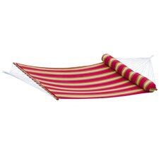 Cantina Striped Quilted Hammock with Bolster Pillow