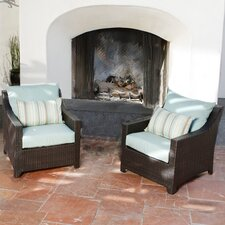 Bliss Club Chair with Cushions (Set of 2)