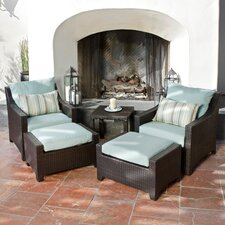 Bliss Deco 5 Piece Deep Seating Group with Cushions
