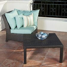 Bliss Deep Seeting Corner Chair with Cushions and Coffee Table