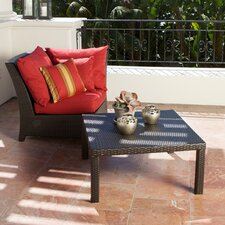 Cantina Deep Seeting Corner Chair with Cushions and Coffee Table