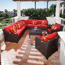 <strong>RST Outdoor</strong> Cantina 9 Piece Deep Seating Group with Cushions