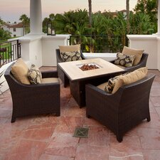 Delano 5 Piece Deep Seating Group with Cushions