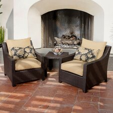 Delano 3 Piece Deep Seating Group with Cushions