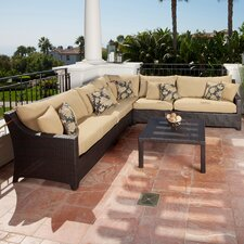 <strong>RST Outdoor</strong> Delano 6 Piece Deep Seating Group with Cushions
