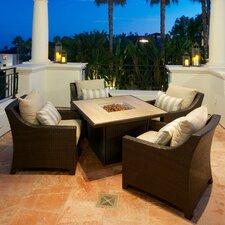 Slate Deco 5 Piece Deep Seating Group with Cushions