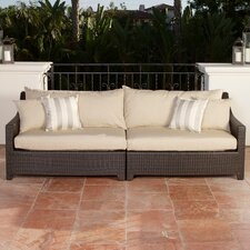 Slate Deco Patio Sofa with Cushions