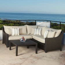 <strong>RST Outdoor</strong> Slate 4 Piece Deep Seating Group with Cushions