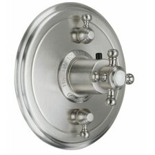 <strong>California Faucets</strong> Venice StyleTherm Dual Volume Controls Shower Faucet Trim