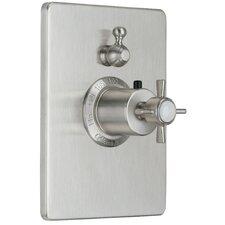 Cardiff StyleTherm Volume Control Square Shower Faucet Trim