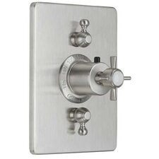 <strong>California Faucets</strong> Cardiff StyleTherm Volume Controls Square Shower Trim