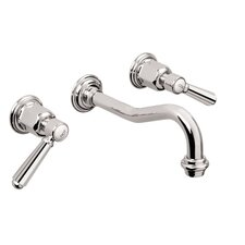 Topanga Double Handle Wall Mounted Vessel Lavatory Faucet Trim