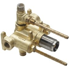 """1/2"""" Thermostatic Rough with Dual Integral Volume Controls Valve Only"""