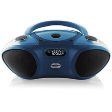 Boom Box CD/FM Media Player with Bluetooth Receiver