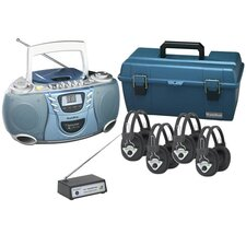 4 Person Wireless Val-U-Pack CD Listening Center